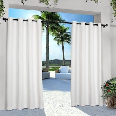 Winter White Solid Grommet Room Darkening Curtain - 54 in. W x 96 in. L (Set of 2)