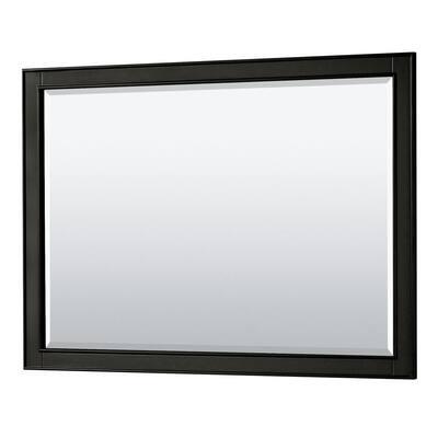Deborah 46 in. W x 33 in. H Framed Rectangular Bathroom Vanity Mirror in Dark Espresso