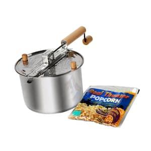 Stainless Steel Popcorn Popper Set