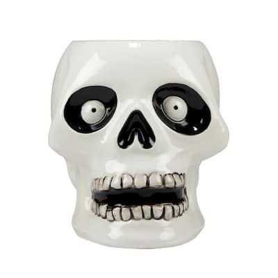 Scaredy Cat 8.5 in. 3-D Skeleton Treat Jar