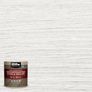 8 oz. #ST-210 Ultra Pure White Semi-Transparent Waterproofing Exterior Wood Stain and Sealer Sample