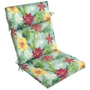 21 in. x 44 in. Elea Tropical Outdoor Dining Chair Cushion