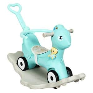Baby Rocking Horse 4 in 1 Kids Ride On Toy Push Car with Music Indoor Outdoor Gift