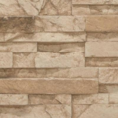 Stacked Stone 11 in. x 11 in. Desert Tan Faux Stone Siding Sample