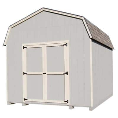 Value Gambrel 10 ft. x 14 ft. Wood Storage Building Precut Kit with 6' Sidewalls and Floor