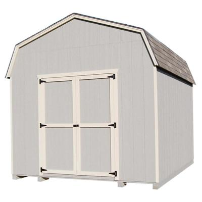 Value Gambrel 12 ft. x 12 ft. Wood Storage Building Precut Kit with 6' Sidewalls and Floor