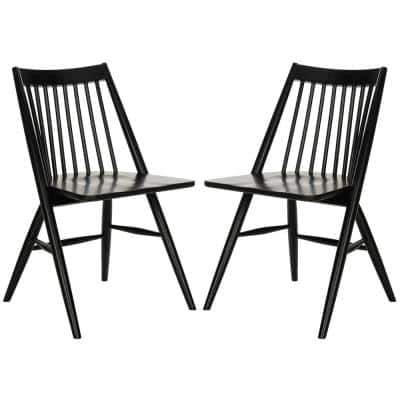 Wren Black 19 in. H Spindle Dining Chair (Set of 2)