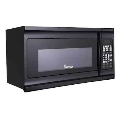 1.6 cu. ft. Over the Range Microwave in Black with Preset Menus