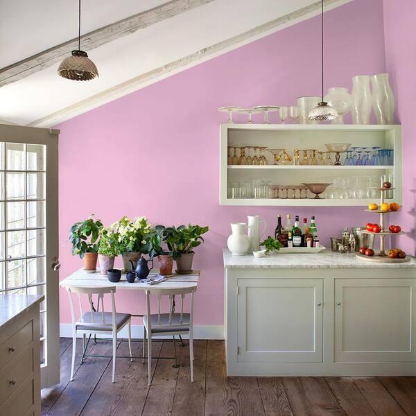 Reviews For Ppg Diamond 5 Gal Hdgr03 Bubblegum Pink Eggshell Interior Paint With Primer Hdgr03d 05en The Home Depot