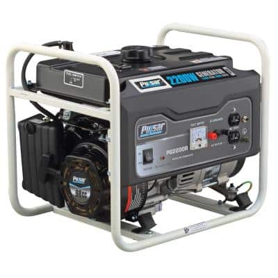 2,200-Watt/1,600-Watt Recoil Start Gasoline Powered Portable Generator with CARB Compliant 98 cc Engine