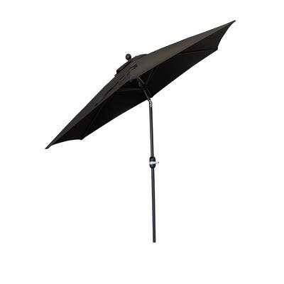 9 ft. Outdoor Market Patio Umbrella with Crank/Tilt in Black