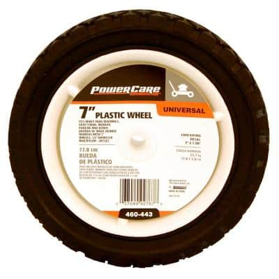 7 in. x 1.5 in. Universal Plastic Wheel for Lawn Mowers
