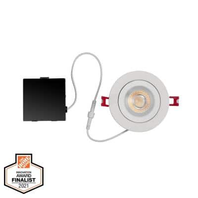 Ultra-Spot 4 in. Selectable New Construction and Remodel Color Canless Recessed Integrated LED Kit