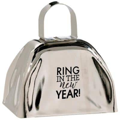 New Year's 3 in. Cow Bell (3-Pack)