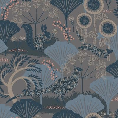 Skog Grey Forest Paper Strippable Roll Wallpaper (Covers 57.8 sq. ft.)