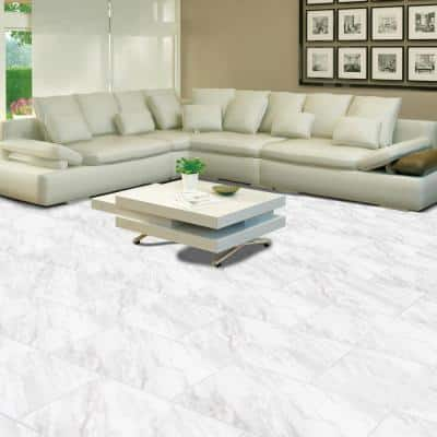Kolasus White Bullnose 3 in. x 24 in. Glossy Porcelain Wall Tile (2 lin. ft.)