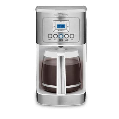 PerfecTemp 14-Cup Programmable White Drip Coffee Maker