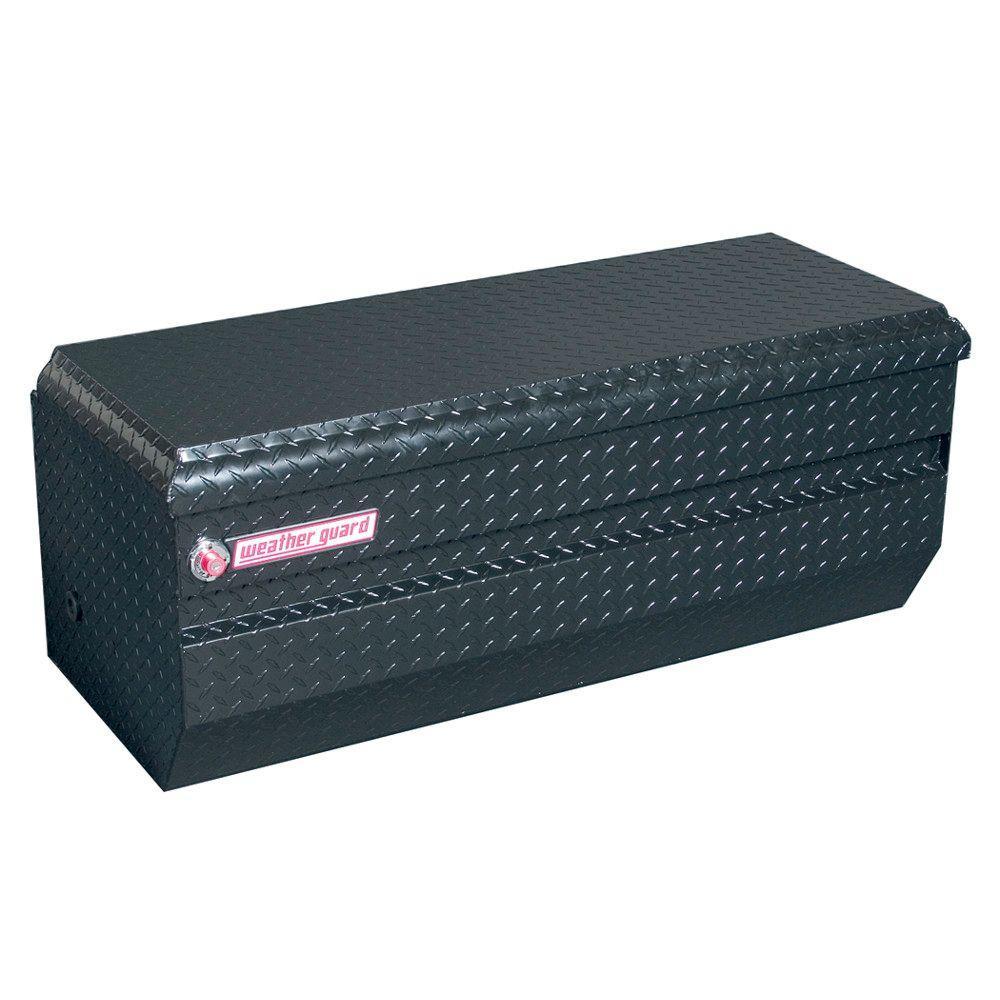 47 in. Gloss Black Aluminum Full Size Chest Truck Tool Box