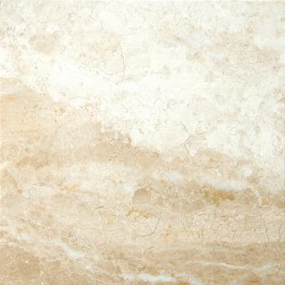 Marble Milano Beige Polished 17.99 in. x 17.99 in. Marble Floor and Wall Tile (2.25 sq. ft.)