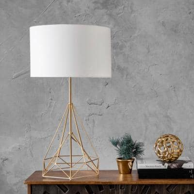 Greenville 30 in. Brass Modern Table Lamp, Dimmable