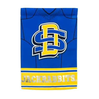 1-1/24 ft. x 1-1/2 ft. South Dakota State University 2-Sided Jersey Garden Flag