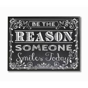 16 in. x 20 in. ''Black and White Inspirational Word Chalk Drawing'' by ALI Chris Framed Wall Art