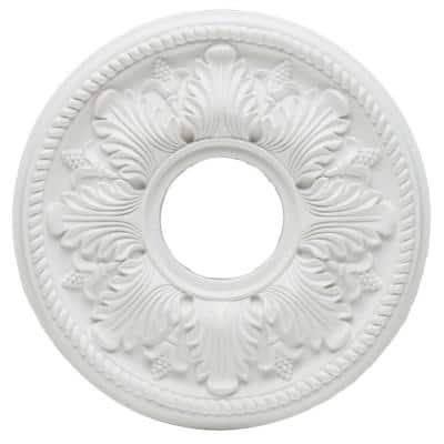 14 in. White Bellezza Ceiling Medallion
