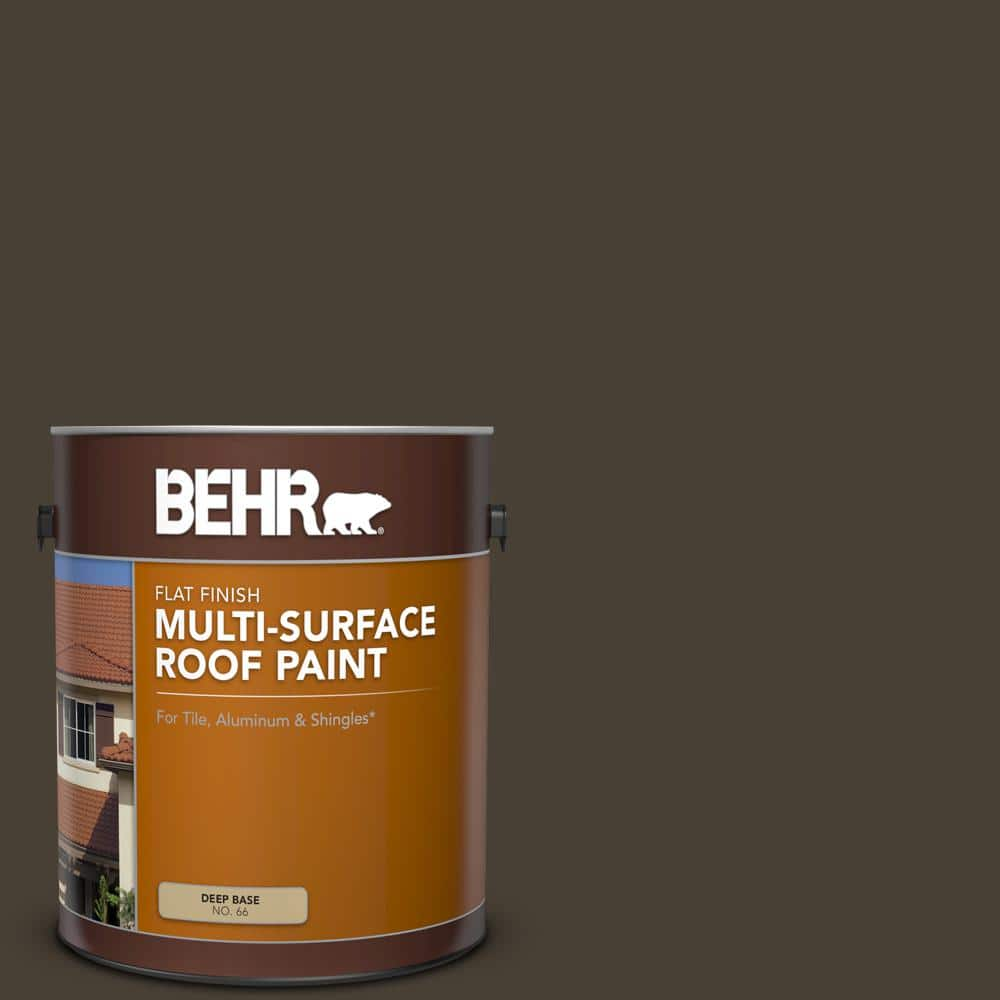 Behr 1 Gal Ppu5 20 Sweet Molasses Flat Multi Surface Exterior Roof Paint 06601 The Home Depot