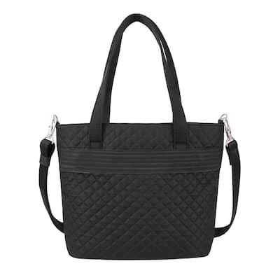 Anti-Theft Boho Black Tote Bag