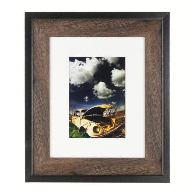 "Railtown Benton Frame - Iron Grey, Walnut Wood, 8"" x 10"" for 5"" x 7"""