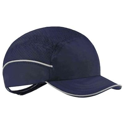 8955 Short Brim Navy Lightweight Bump Cap Hat