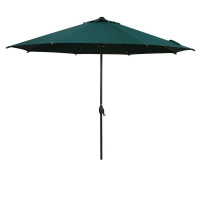 11 ft. Market Patio Umbrella with Push Tilt and Crank in Green