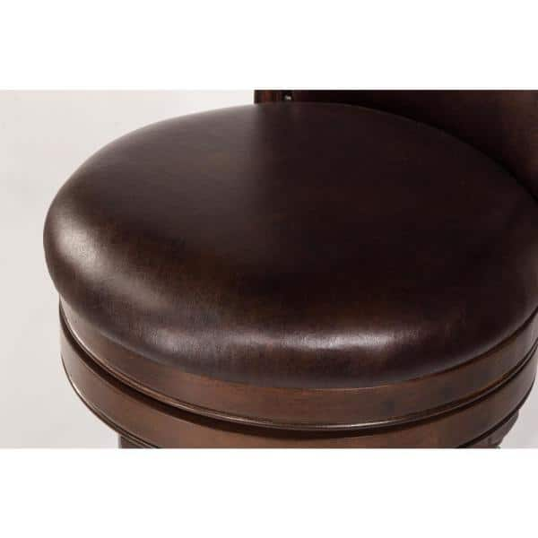 Hillsdale Furniture Barcelona 30 In Brown Cherry Swivel Bar Stool 4899 830a The Home Depot