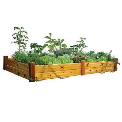 48 in. x 95 in. x 13 in. Safe Finish Raised Garden Bed