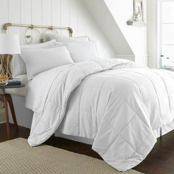 Becky Cameron Performance 6 Piece White, White Bedding For Twin Bed