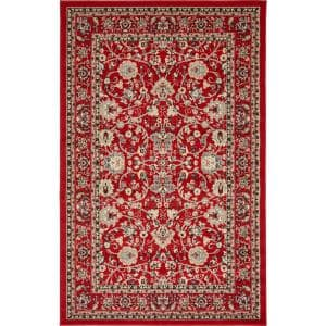 Sialk Hill Washington Red 5' 0 x 8' 0 Area Rug