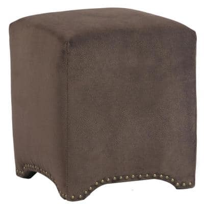 Emma Cube Ottoman in Night Party Chocolate