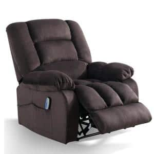 Brown Big and Tall Remote Control Power Massage Lift Recliner