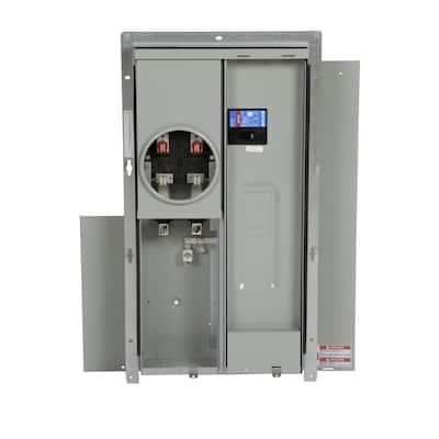 BR 200 Amp 8-Circuit Outdoor EUSERC Meter Breaker Panel