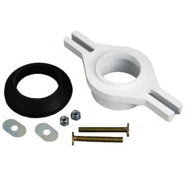 PVC 2 in. IPS Threaded Horizontally Adjustable Urinal Flange Kit