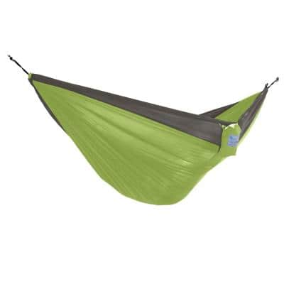 10 ft. Nylon Outdoor Camping Hammock Parachute in Storm and Apple