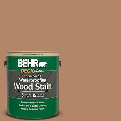 1 gal. #SC-158 Golden Beige Solid Color Waterproofing Exterior Wood Stain