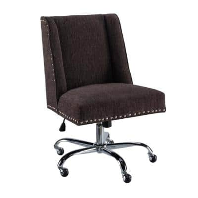 Draper 24 in. Width Big and Tall Chrome Fabric Task Chair with Adjustable Height