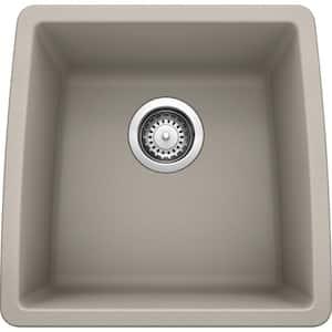 PERFORMA SILGRANIT Granite Composite 18 in. Undermount Bar Sink in Concrete Gray