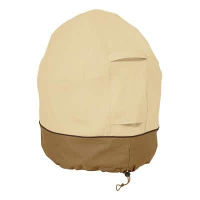 Veranda Mini Kamado Ceramic Grill Cover - Durable BBQ Cover with Heavy-Duty Weather Resistant Fabric