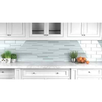 Vesper 4 in. x 12 in. Glass Tile for Kitchen Backsplash and Showers (10 sq. ft./per Box)
