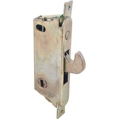 3-11/16 in., Mortise Lock with Vertical Keyway, Round Faceplate