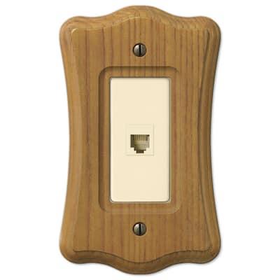Austin 1 Gang Phone Wood Wall Plate - Tavern Oak