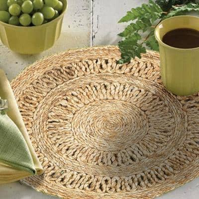 15 in. Natural Jute LR12027-NAT15 Natural Placemat (Set of 2)