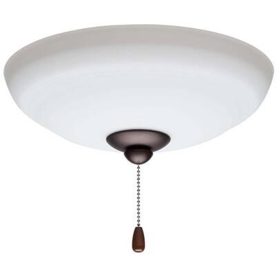 1-Light Oil Rubbed Bronze Ceiling Fan Bowl LED Light Fixture